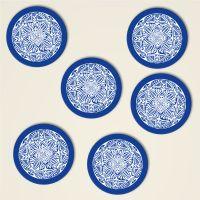Untersetzer Set Mandala Motiv 'Shamanic' Blau