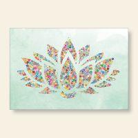 Bedrucktes Grußkarten- Set Lotus Geist und Geschenk