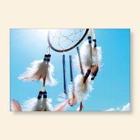 Bedrucktes Grußkarten- Set Traumfänger III Geist und Geschenk