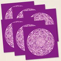 Karten-Set 'Shamanic' Mandala Violett (2-farbig)