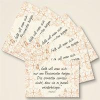 """Grusskarten  Set mit Ringelnatz Zitat """"Geld von Pessimisten"""""""