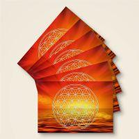 Grußkarten Postkarten Blume des Lebens Flower of Life  Svadhisthana Geist und Geschenk weiß