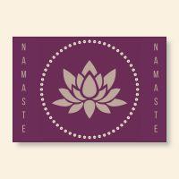 Grußkartenset bedruckt 'Namaste I' Geist und Geschenk
