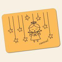 Bedrucktes 6-teiliges Tischset Innocent  Angel Yellow  Geist und Geschenk
