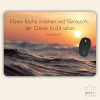 Bedrucktes Mousepad XXL Zitat Sakya Pandita Geist und Geschenk eckige Form