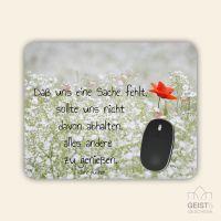 Bedrucktes Mousepad Zitat Jane Austen Gedanken Motivation Geist und Geschenk eckige Form