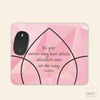 Bedrucktes Mousepad Pink Diamond Buddha Glück Geist und Geschenk