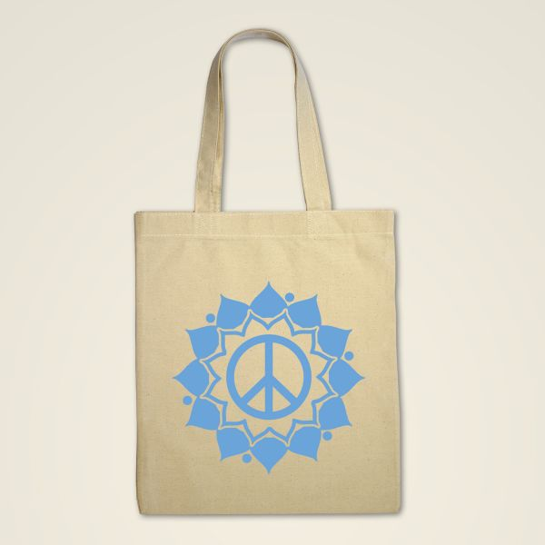 Stofftasche Natur 'Peace Mandala'