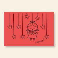 Grußkartenset bedruckt Angel Innocent Red Geist und Geschenk