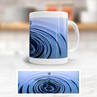Tasse bedruckt Zitat  'Drop Deep Blue', Geist und Geschenk, klassische Form