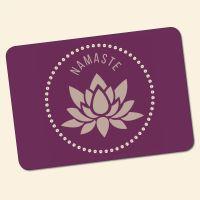 Bedrucktes 6-teiliges Tischset Namaste V  Geist und Geschenk