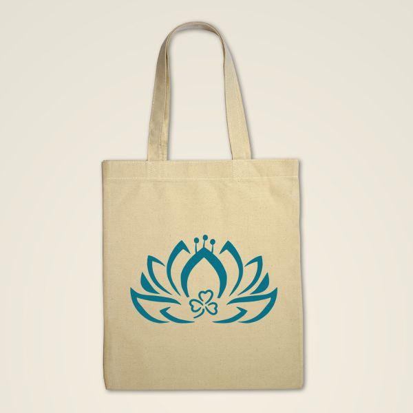 Stofftasche Natur 'Dreiblatt-Lotus'