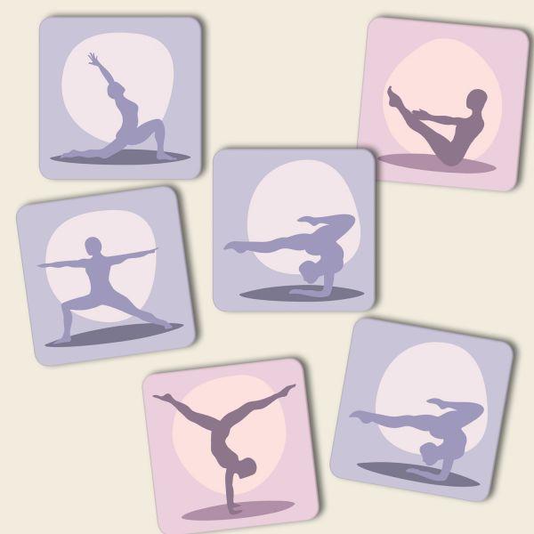 Untersetzer Set Yoga Komplettset