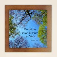 Wandbild bedruckt Zitat Immanuel Kant Geist und Geschenk  quadratische Form