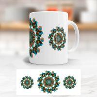 Bedruckte Tasse Mandala Retro klassische Form Geist und Geschenk