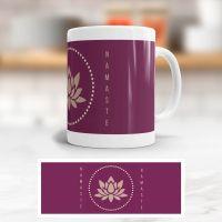 Tasse bedruckt   'Namaste Lotus', Geist und Geschenk, klassische Form