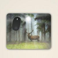 Mousepad 'Hirsch auf Waldlichtung'
