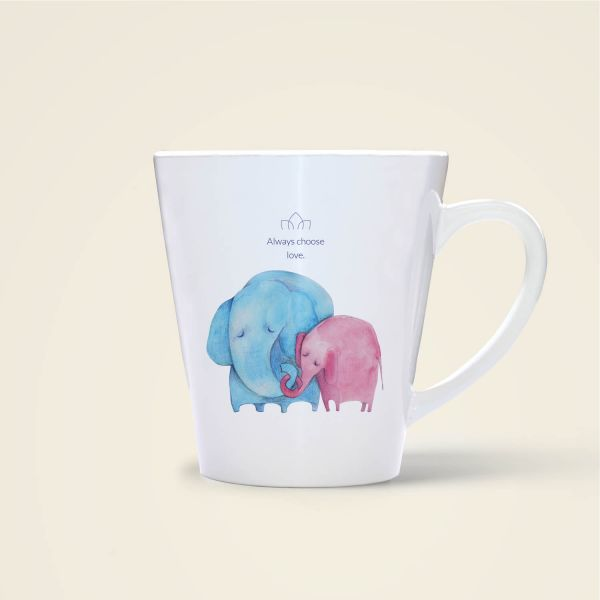 Always choose love elefant tiermotiv aquarell Tasse bedruckt online bestellen blau rot
