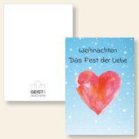 Grußkarten Weihnachtskarten Weihnachten das Fest der Liebe  Geist und Geschenk