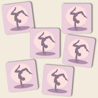 Untersetzer Set 'Yoga Handstand'