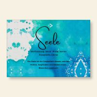 Bedrucktes Grußkarten- Set Seele Geist und Geschenk