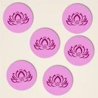 Untersetzer dreiblatt lotus bedruckt design 2