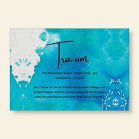 Bedrucktes Grußkarten- Set Traum Geist und Geschenk