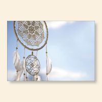 Bedrucktes Grußkarten- Set Traumfänger V Geist und Geschenk