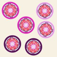 Mandala Aufkleber  Love