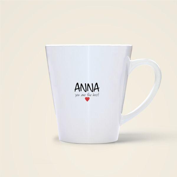 bedruckte Namenstasse Geist und Geschenk shop Anna