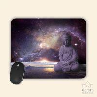 Bedrucktes Mousepad  Buddha Galaxy Geist und Geschenk eckige Form