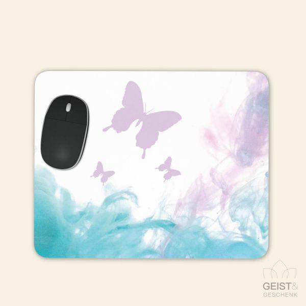 Bedrucktes Mousepad Butterfly Schmetterling Aquarell Geist und Geschenk