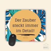 Mousepad bedruckt Der Zauber steckt immer im Detail Theodor Fontane Geist und Geschenk