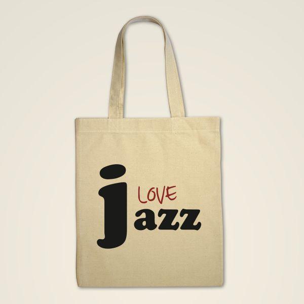 Jazz Love Monika Minder Stofftasche bedruckt