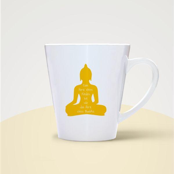 Tasse bedruckt Becher Motiv Buddha Weisheit Geist und Geschenk