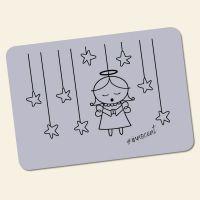 Bedrucktes 6-teiliges Tischset Innocent  Angel violett  Geist und Geschenk