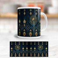 Tasse bedruckt   'Yin Yang Gold', Geist und Geschenk, klassische Form