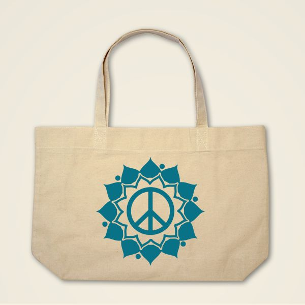 Boatshape Stofftasche Natur 'Peace Mandala'