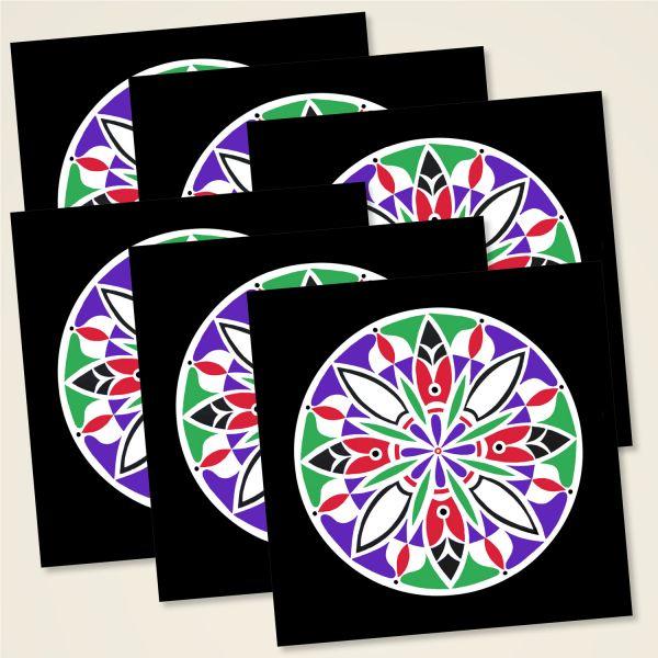 Karten-Set Mandala 'Blooming'