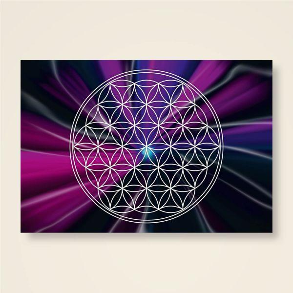 Postkarten Grußkarten Blume des Lebens Mondzentrum Motiv bedruckt Geist und Geschenk
