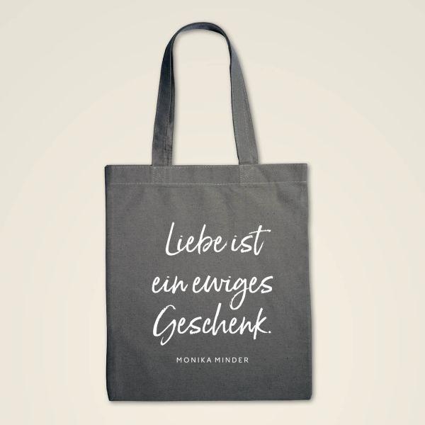 Stofftasche 'Liebe ist ein ewiges Geschenk'