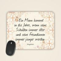 Ringelnatz Mousepad bedruckt bestellen Spruch geist und Geschenk Jahre Schulden