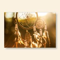 Bedrucktes Grußkarten- Set Traumfänger Sunset Geist und Geschenk