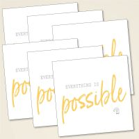 Karten-Set 'Everything is possible'
