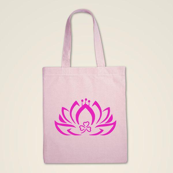 Stofftasche rosa 'Dreiblatt-Lotus'
