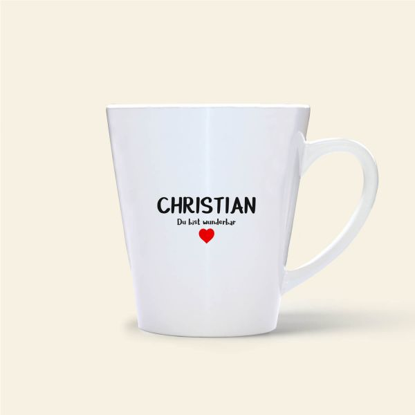 Christian Namenstasse Geist und Geschenk bedruckt