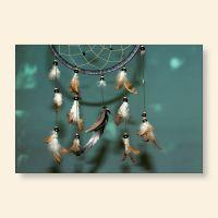 Bedrucktes Grußkarten- Set Traumfänger I Geist und Geschenk