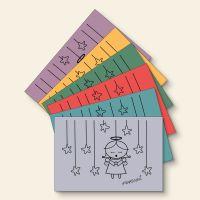 Grußkartenset bedruckt Angel Innocent Mix Geist und Geschenk