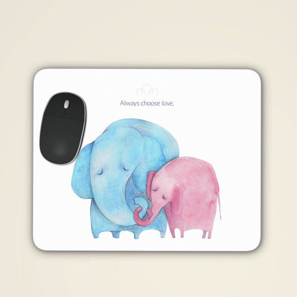 Bedrucktes Mousepad sicher online bestellen 'Always choose love' aquarell motiv