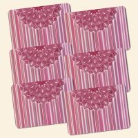 Bedrucktes 6-teiliges Tischset Mandala Berry Geist und Geschenk